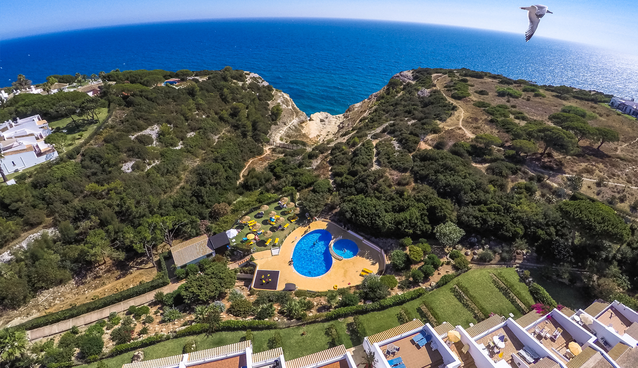 rocha brava carvoeiro resort portugal birds eye view