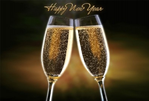 happy new year rocha brava village resort champagne glasses