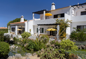 Rocha Brava view of holiday cottages