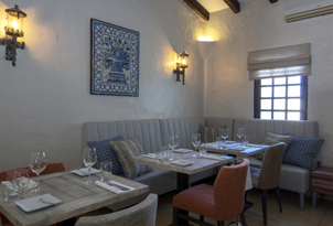Dining area at Rocha Brava